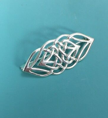 Gorgeous Intricate Sterling Silver 925 Celtic Knot Brooch Pin for Scarf Jacket
