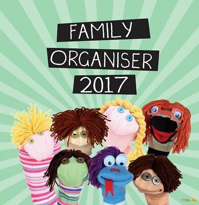 Family Organiser - 2017 Wall Calendar 16 Months by Gifted Stationery (E)