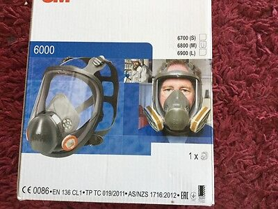 3M 6900 Large Full Face Mask Respirator + 4  2138 filters  + 4 lens covers NEW