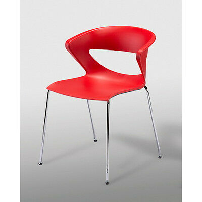 Red Kicca Dining Chairs x6