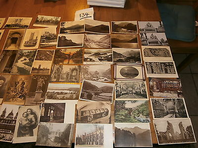 50 Old vintage postcard collection  places people scenery ref 134