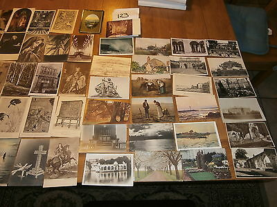 50 Old vintage postcard collection  places people scenery ref 123