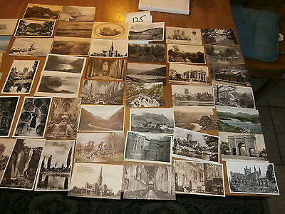 50 Old vintage postcard collection  places people scenery ref 125