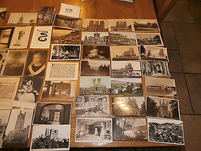 50 Old vintage postcard collection  places people scenery ref 104