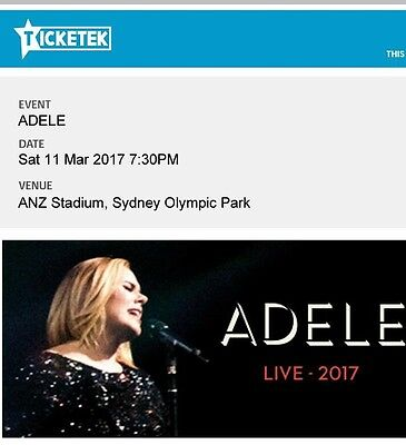 Up To 4 Tickets For Adele Concert In Sydney On 11 March, $145 Per Ticket.