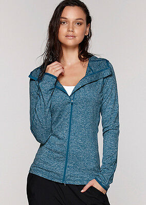 NEW Womens Lorna Jane Activewear   Cleo Hooded Excel L/Slv Top