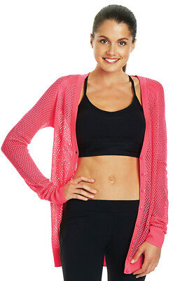 NEW Womens Lorna Jane Activewear   LJ Mesh Knit Cardigan