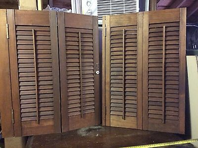 Vintage Wood Shutters Interior 6 panels