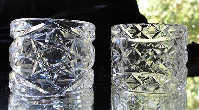 Exquisite Antique Vintage Crystal Napkin Rings