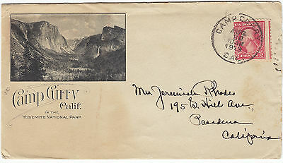 1919 Yosemite National Park Camp Curry Advertising Cover