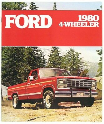 Ford 1980 4-Wheeler Bronco F-150 F-250 F-350 Dealer Sales Brochure