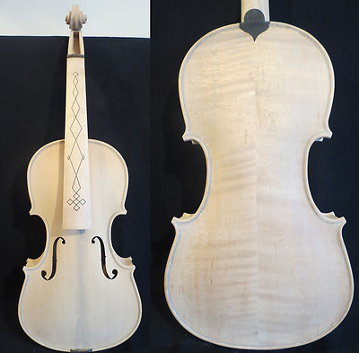 Baroque style unfinished song violin 4/4,white violin #11604