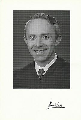 Supreme Court Justice David Souter Signed Supreme Court Chamber Photo