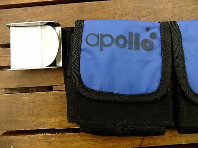 Scuba diving Apollo weight belt - 4 pocket small to medium size.