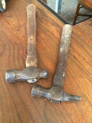 Two Vintage Hammers. One Ball Pein. One Cobblers. Estate Item
