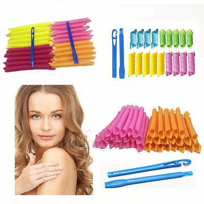 18/20/36PCS 55CM Magic DIY Hair Curlers Tool Styling Roller Spiral Curlformers