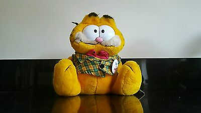Vintage 1981 Garfield the cat dakin Soft Toy Plush born to party + original tag