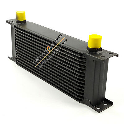 New Black UNIVERSAL 15 ROW AN-10AN ENGINE TRANSMIS​SION OIL COOLER 1st-racingde