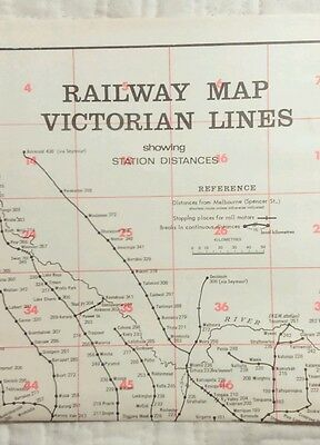 Victorian Railways Route Map from 1974