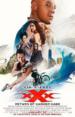 XXX RETURN OF XANDER CAGE MAIN COLLAGE 11x17 MINI MOVIE POSTER COLLECTIBLE