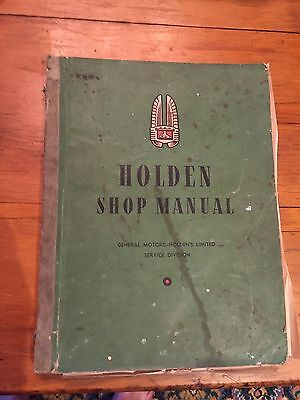 holden workshop manual 1952 Revised Edition FX FJ
