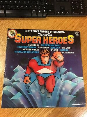 LP Geoff Love Orchestra Themes For Super Heroes 1979