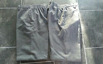 2 boys school trousers age 12/13 yrs
