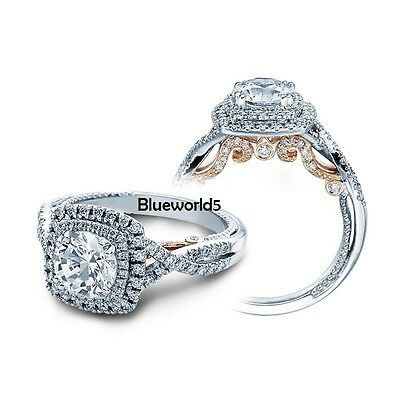 2.10Ct Off White Moissanite Dubbal Halo Engagement Ring 925 Sterling Silver