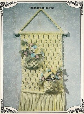 Vintage 1981 Macrame Pattern Book - Wall Hangings - There Are 15 Projects