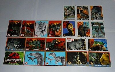 *20 x JURASSIC PARK TRADING CARDS/STICKERS 1993 TOPPS-FREE POST*