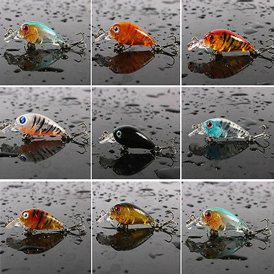 4.5CM Mini Fishing Lures Spinner Baits Crankbait Assorted Fish Tackle SS