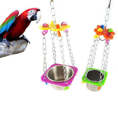 Selling Bird Food Basin Chew Toy For Pet Parrot Cage Hanging Toy Bite Toy  New