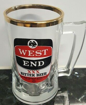 Rare Vintage Collectable West End Xxx Bitter Beer Glass