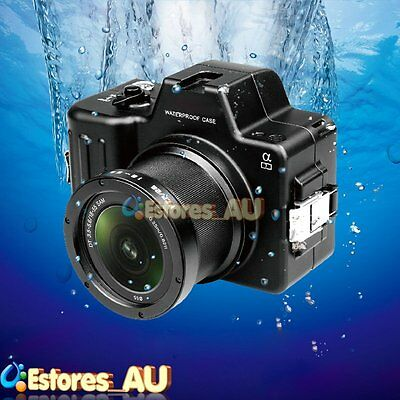 Mcoplus 100m/325ft Underwater Waterproof Housing Case Cover For Sony A7 Camera