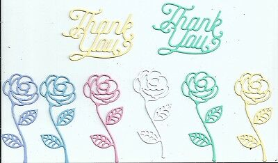 Thank you and Rose die cuts