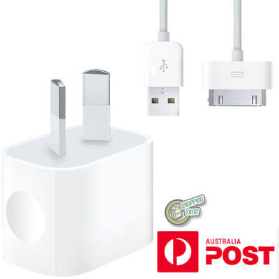 Original Genuine Apple iPod Nano 5th 6th Nano1 AC WALL CHARGER USB Data Cable