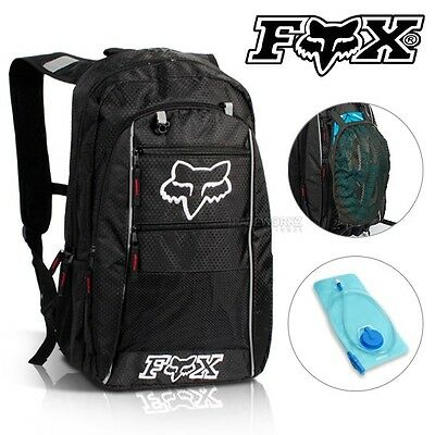2L FOX Hydration Water Backpack Bag Pack Rucksack Camping Cycling Hiking Bladder