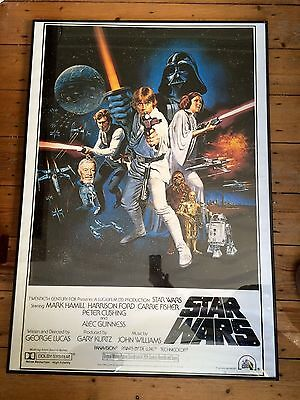 Star Wars Movie Poster in Black Frame