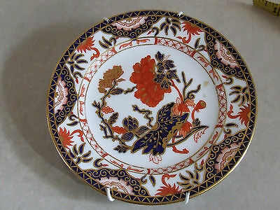 Collectable Antique Royal Crown Derby Gilded Imari 1660 Saucer Side Salad Plate
