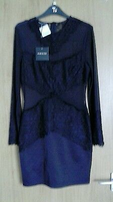 Ladies black long sleeved lace dress size 12