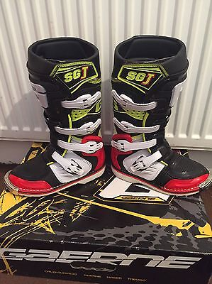 Gaerne SGJ kids Youth Motocross Boots Black/Red/Flou Yellow Size UK 1