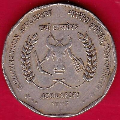 India - Globalizing Indian Agriculture - Two Rupee - Rare Coin #en86