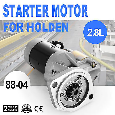 Starter Motor Fits Holden Rodeo TF 4WD Diesel 88-04 ROHS Replacement 2.8L 4JB1T