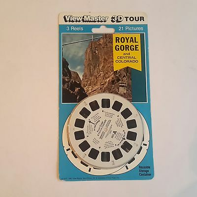 Viewmaster three reel carded set 3d Royal Gorge and Central Colorado Sealed
