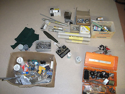 Radio Controlled Boat Plane Big Job Lot RC Controller Props Exhausts. Some New