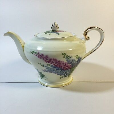 Aynsley Teapot BONE CHINA Flowers w/ Gold England RARE Antique Collectible