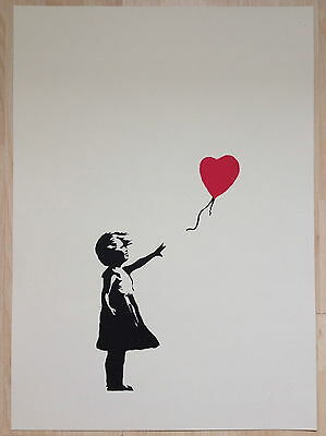 Banksy Girl With Red Balloon Screen Print.
