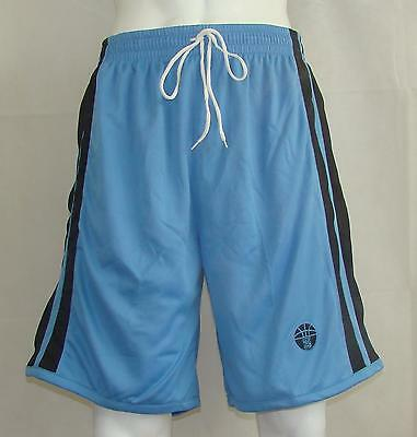 Basketball Shorts / Sky Blue / Black  FREE P & P - priced to clear