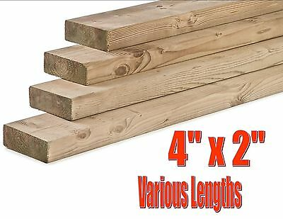 "2.4 Metres Decking Base Foundation Timber Pressure Treated Heavy Duty 4"" X 2"""