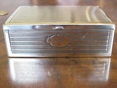 "Vintage Brass Box For ""state Express"" Cigarettes Good Color Brass"